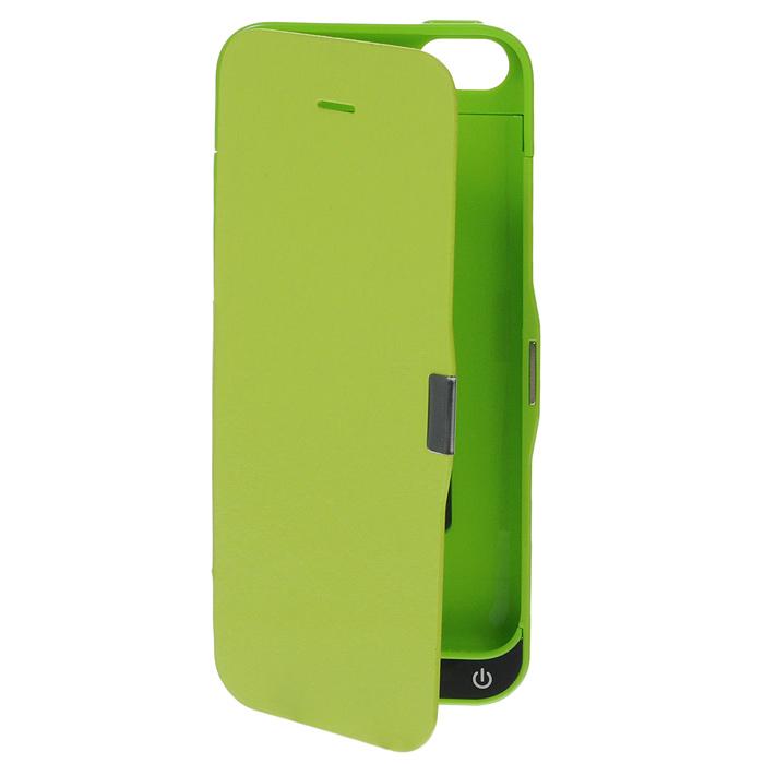 EXEQ HelpinG-iF03 чехол-аккумулятор для iPhone 5/5s/5c, Green (2300 мАч, флип-кейс)HelpinG-iF03 GRExeq HelpinG-iF03 имеет откидную крышку для надежной защиты экрана. С Exeq HelpinG-iF03 вы получите не только надежный защитный чехол, но и яркий аксессуар, идеально подходящий под цветовую гамму вашего iPhone. А с помощью встроенного аккумулятора вы сможете еще дольше наслаждаться широкими возможностями своего смартфона – чехол-аккумулятор Exeq HelpinG-iF03 сможет увеличить часы автономной работы вашего смартфона в два раза! Слушайте любимые мелодии, просматривайте популярные видеоролики, общайтесь в соцсетях и забудьте о постоянно разряжающейся батарее! Зарядка чехла-аккумулятора Exeq HelpinG-iF03 происходит аналогично зарядке телефона – от зарядного устройства телефона. Причем при любой зарядке телефон из чехла извлекать не нужно. Просто подключите зарядное устройство от телефона к чехлу и нажмите кнопку питания на чехле – телефон начнет заряжаться. Если кнопу питания не нажимать – начнется зарядка чехла.