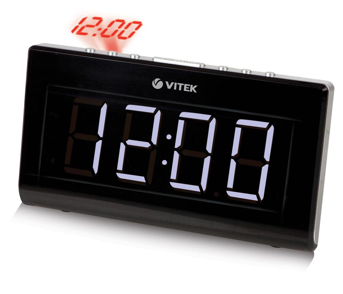 Vitek VT-3517, Black радиочасыVT-3517(BK)Радиобудильник Vitek VT-3523. Диапазон частот FM 64 -108 МГц Кнопка короткого сна Дисплей 1,8 Таймер отключения