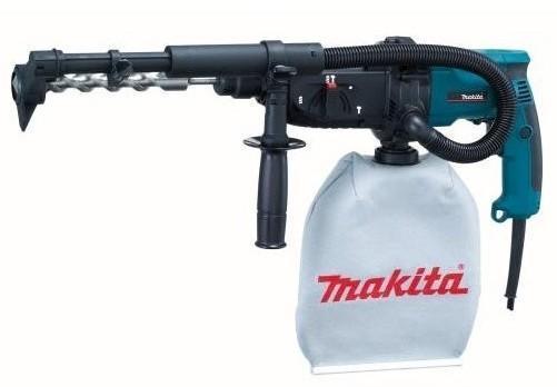 Makita HR2432 перфоратор SDS PlusHR2432Домашний помощник Производитель ручного инструмента Makita создал модель HR2432 для использования как в быту, так и на производстве. Перфоратор предназначен для создания отверстий в металле, в дереве и других твердых материалах. В режиме «сверление с ударом» или «долбление» инструмент способен продолбить отверстие в бетоне, кирпиче, керамике. А если переключиться в режим «завинчивание» инструмент превращается в обычный шуруповерт, которым можно вкручивать саморезы. Отличная производительность При относительно не сложных видах работ, а также при эксплуатации инструмента на высоте вам необходим сравнительно легкий и производительный перфоратор. Именно таким является HR2432 от производителя Makita. Весом 2.5 кг, он снабжен мощным двигателем 780 Вт и длинным сетевым кабелем 2.5 м. Модель имеет функцию удара с энергией 2.2 Дж, частотой 4500 уд/мин., что делает его отличным «убийцей» бетона и кирпича. Долбить или сверлить ...