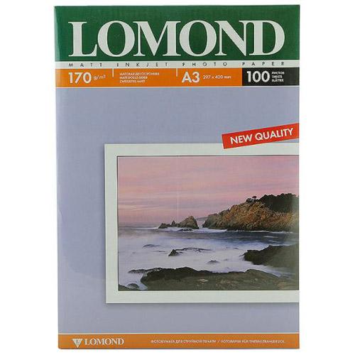 Lomond 170/A3/100л, бумага матовая двухсторонняя, 01020120102012