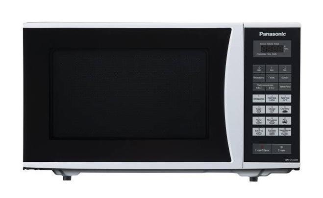 Panasonic NN-GT352WZPE Микроволновая печьNN-GT352WZPEНет времени заглянуть в кулинарную книгу? Не можете найти нужный рецепт? Просто не хватает времени приготовить что-то интересное? Тогда предоставьте системе авто меню СВЧ печи приготовить для вас вкусное блюдо.