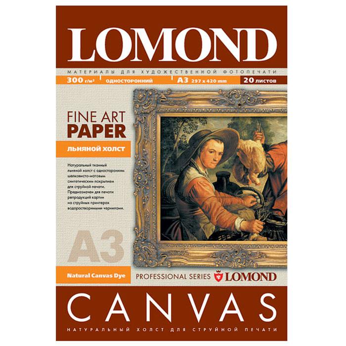 Lomond Natural Canvas Dye 300/A3/20л натуральный холст для водных чернил