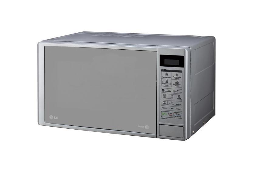 LG MB4043DAR СВЧ-печьМВ-4043Стильный дизайн микроволновой печи с грилем позволит ей органично влиться в общий дизайн вашей кухни, а большое количество полезных функций, таких как наличие программ автоматического приготовления, автоматическое размораживание и многих других, сделает ее незаменимой помощницей в приготовлении вкусных блюд. Благодаря наличию кварцевого гриля микроволновая печь позволяет готовить продукты-гриль, равномерно обжаривая кусковые порции продукта