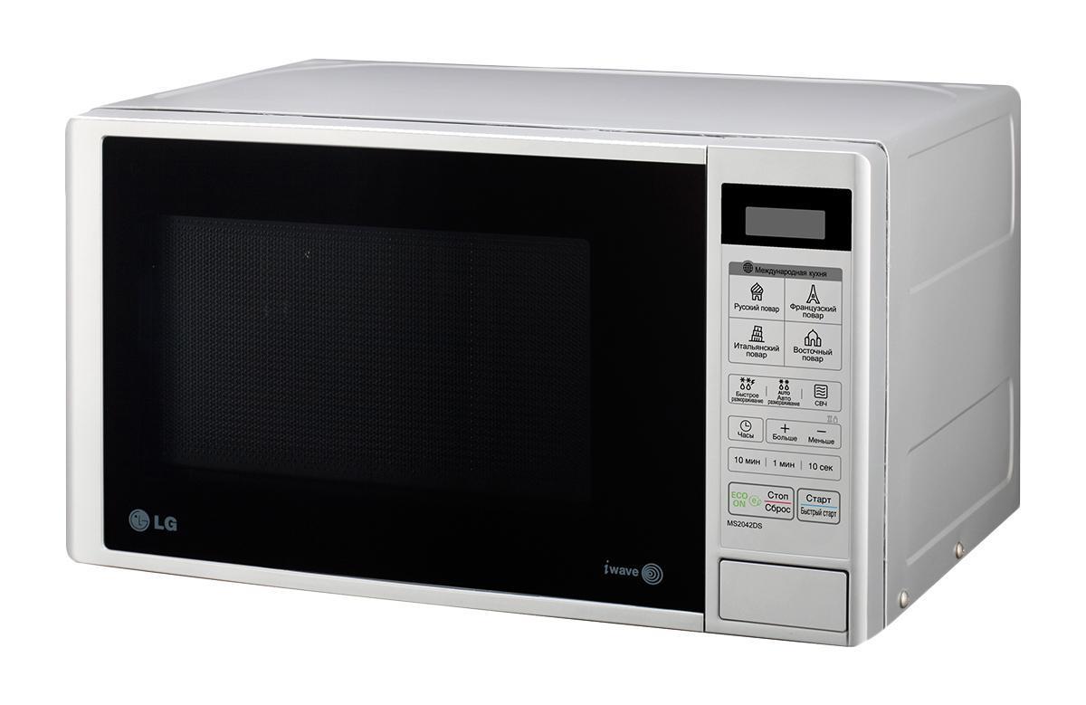 LG MB40R42DS СВЧ-печьMB-40R42DSМикроволновая печь может работать в шести режимах мощности, подобрать тот, который лучше всего подойдет для конкретной работы, будет еще легче и проще. Механическое управление отличается простотой и надежностью, что наверняка оценят многие пользователи.