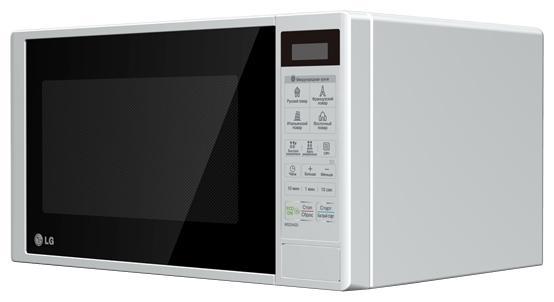 LG MS-2042DSMS-2042DПроцесс разморозки продуктов не просто требует много времени, но он часто и непредсказуемый. Часто бывает, что в размороженном продукте остаются неразмороженные фрагменты. Однако функция бустрого размораживания печи обеспечивает быструю и равномерную разморозку, благодаря чему приготовленное блюдо получается вкусным и сочным.