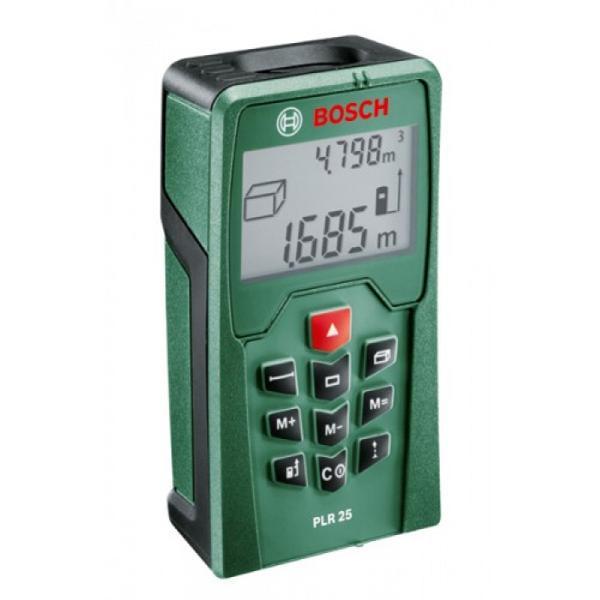 Лазерный дальномер Bosch PLR 25 (0603016220)PLR 25Лазерный дальномер Bosch PLR 25 поможет Вам измерить необходимое расстояние, площадь и объём.