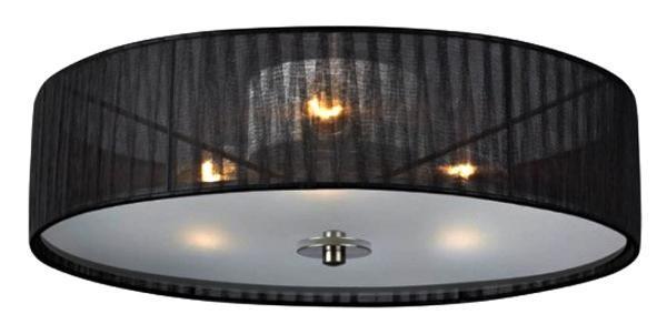 Люстра потолочная 104884, BYSKE104884104884 Люстра потолочная, BYSKE, органза, черный, E14 3*40W