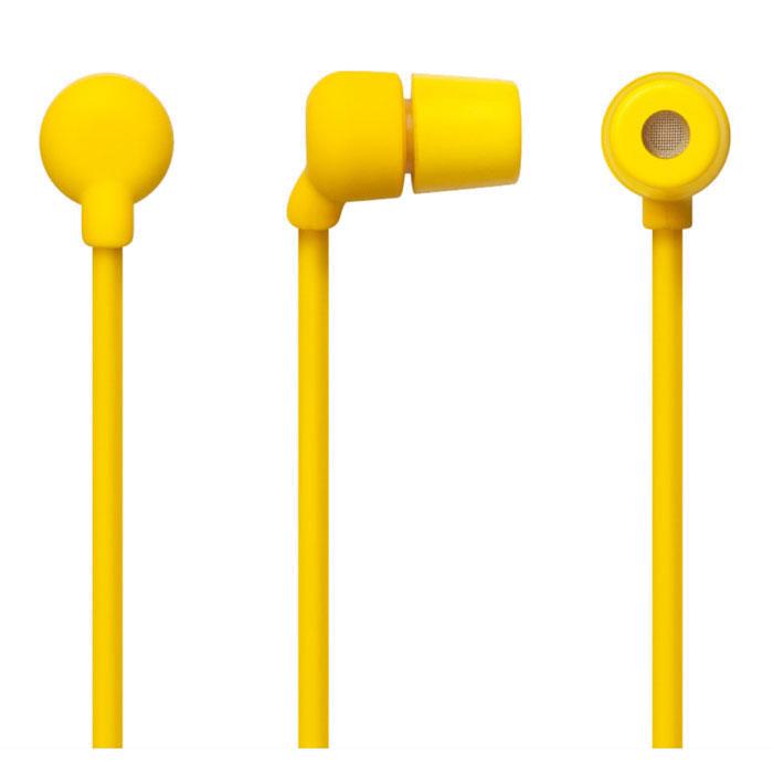 Aiaiai Swirl Earphone, Yellow наушники с микрофоном4805Наушники с микрофоном Swirl Earphone от датской компании AIAIAI отличаются своей прочностью и долговечностью. Благодаря своей надежной конструкции подходят для повседневного использования. Шнур этих наушников сделан из меди высокой проводимости без вплетения капрона, который обычно используют почти все известные бренды для удешевления и экономии при производстве, что вкупе с устойчивым к коррозии штепселем, предотвращает появление искажений звука и помех, а обволакивающие силиконовое волокно защищает от различных воздействий окружающей среды. Подходит для iPod, iPhone, любых других MP3-плееров и мобильных аудиоустройств.