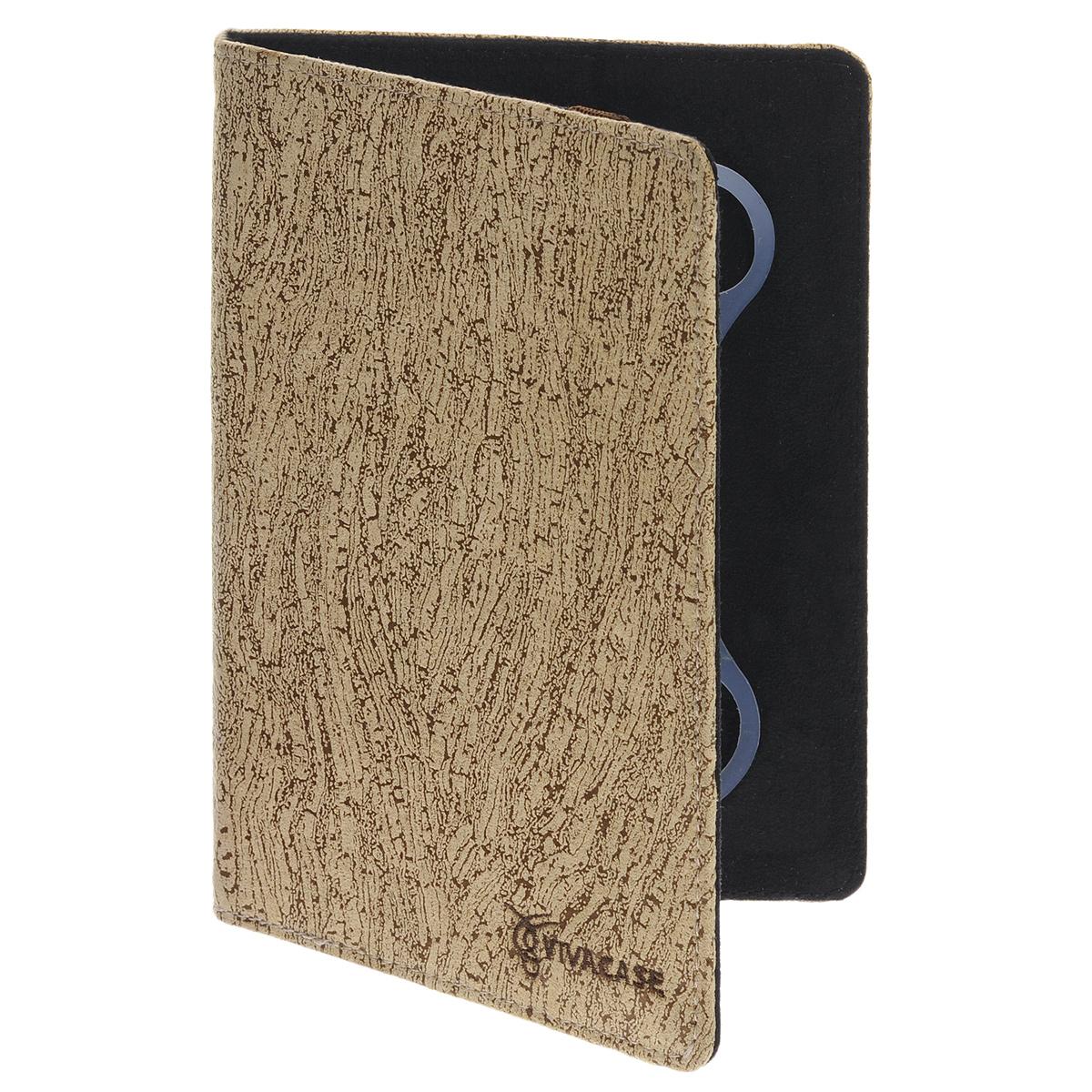 Vivacase Birch универсальный чехол-обложка для планшетов 9, Coffee Milk (VUC-CBR09-cm)VUC-CBR09-cmУниверсальный чехол Vivacase с резиновым креплением, который подходит для любых популярных планшетов с диагональю дисплея в 9 дюймов. Он изготовлен из ткани, которой обтянут прочный каркас, защищающий устройство во время падений. Внутренняя часть отделана мягкой подкладкой, которая не оставляет никаких следов на корпусе и дисплее. Каркас из тонкой и мягкой резины позволяет прочно и надежно закрепить устройство подходящего размера. Для того чтобы установить устройство в альбомной ориентации, удобной для просмотра видео или чтения, чехол имеет подвижную площадку и два углубления, которые позволяют зафиксировать планшет под двумя разными углами.