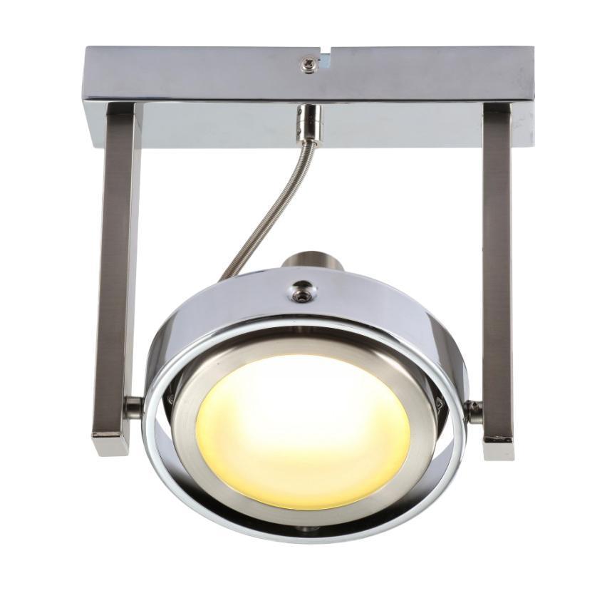 56946-1 Настенно-потолочный светильник BARONI56946-1Как обычно GLOBO сделало упор на широкий ассортимент настенно-потолочных светильников с галогеновыми и энергосберегающими лампами, а также лампами накаливания Е14 и Е27. Уникальная коллекция многоламповых тарелок различной формы и дизайна подойдут как для помещений с невысокими потолками, так и для больших помещений, требующих избыточной освещенности. Изюминкой нового каталога стала объемная линейка моделей декоративных светильников для улицы Globo Lighting 56946-1, использующих энергию солнца и LED источники света.