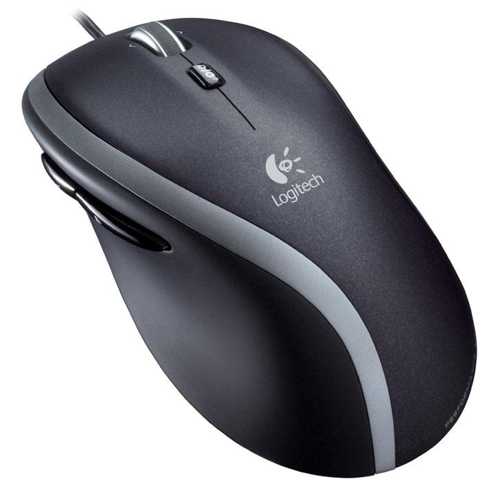 Logitech M500 N (910-003725) компьютерная мышь910-003725С помощью компьютерной мыши Logitech M500 N можно в режиме свободного вращения быстро перемещаться по самым длинным документам и веб-страницам. А пошаговая прокрутка обеспечит необходимую точность при навигации по электронным таблицам, фотоальбомам и спискам воспроизведения. Мышь обеспечивает плавное управление курсором практически на любой поверхности.Она быстрее и точнее традиционных оптических моделей. Мягкие боковые вставки и эргономичная форма мыши поддерживают ладонь в естественном положении, обеспечивая уверенный контроль и удобство в повседневном использовании. Кнопки для большого пальца запрограммированы для перелистывания веб-страниц и фотоальбомов, но вы можете перенастроить их по собственному усмотрению. Мышь полностью готова к работе. Никакой установки. Никаких программ. Подключите ее к USB-порту - и все.
