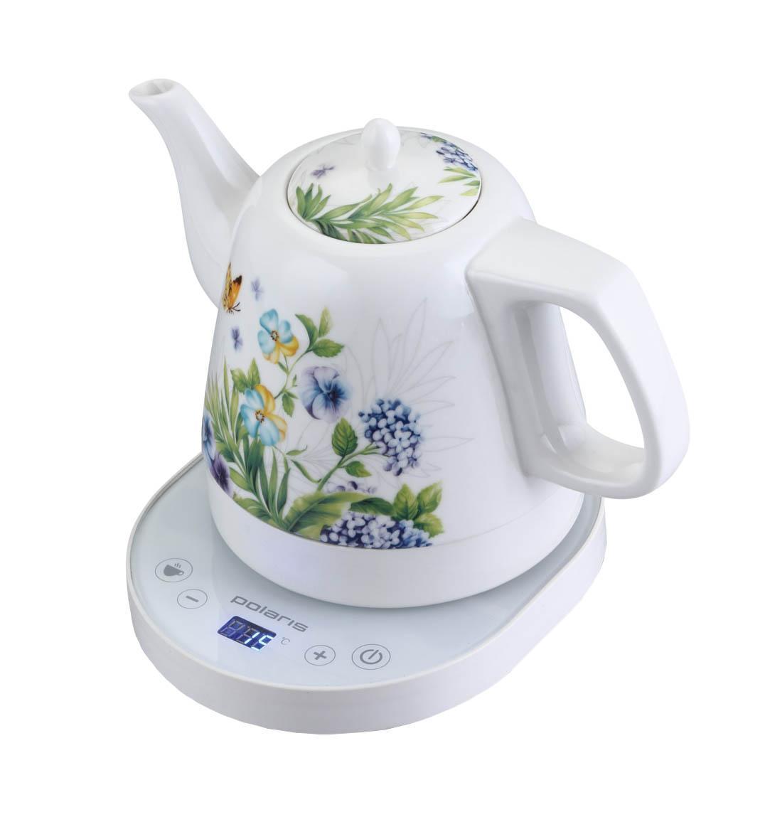 Polaris PWK 1232CCD электрочайникPWK 1232CCDКорпус чайника Polaris PWK 1232CCD выполнен из высококачественной керамики, что обеспечит Вам экологически чистую воду, без примесей и красителей. Керамика - это натуральный материал, максимально сохраняющий вкусовые качества и полезные свойства напитков.