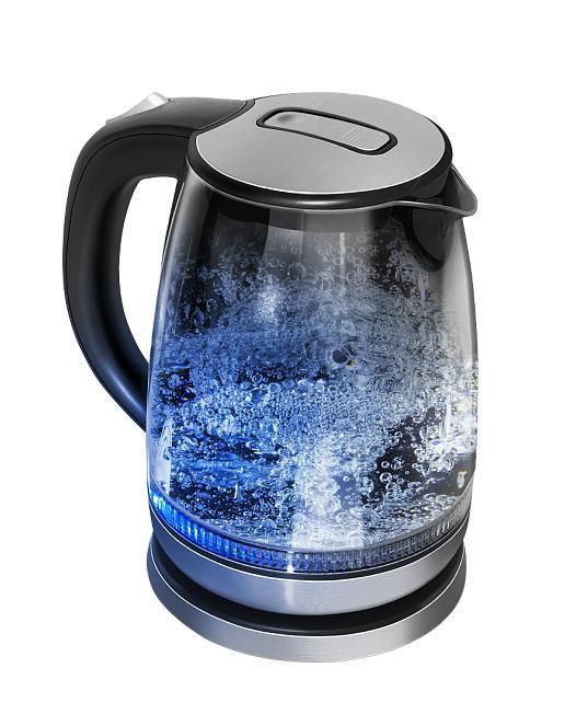 Redmond RK-G127 электрический чайникRK-G127Элегантный дизайн электрочайника не оставит вас равнодушными к этой модели. Достаточно интересная модель, корпус которой выполнен из прозрачного стекла. Теперь вы всегда будете видеть уровень воды в чайнике. Кроме того, имеется шкала уровня воды, с помощью которой вы будете регулировать необходимое количество жидкости. Благодаря тому, что стекло не выделяет неприятных запахов, вы сможете насладиться истинным вкусом чая без всевозможных привкусов. Скрытый нагревательный элемент, который выполнен из нержавеющей стали, гарантирует вам, что Redmond RK-G127 прослужит вам долгое время.