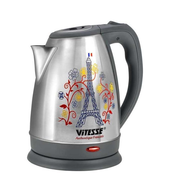 Vitesse VS-160 электрочайникVS-160Стильный чайник с уникальной функцией: индикатор количества воды на 1 чашку. Этот чайник позволяет избежать кипячения излишнего количества воды и сохраняет до 66 % электроэнергии, уменьшая, таким образом, негативное воздействие на окружающую среду Простота в эксплуатации Сложностей в жизни и так хватает, и такая простая вещь, как кипячение воды не должно создавать вам абсолютно никаких трудностей. Создатели Vitesse VS-160 с пониманием относятся к вашим потребностям, поэтому создали чайник, который не только удобен в эксплуатации, но и при хранении не создает никаких проблем. Хранение шнура в подставке для чайника в специальном отсеке позволяет вам не «путаться» с проводом при переноске и хранении чайника. Так часто бывает, что когда нам нужна только 1 чашка кипятка, мы греем значительно больше воды. При этом тратится больше энергии, да и лишнюю кипяченую воду часто приходится просто выливать. Это проблема решена благодаря Vitesse VS-160. Индикатор на одну чашку позволяет...