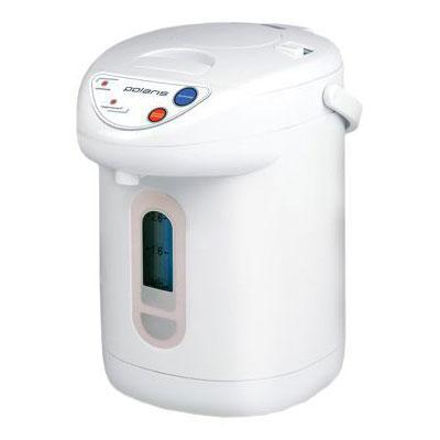 Polaris PWP 2601 термопотPWP 2601В классическом белом пластиковом корпусе термопота PWP 2601 скрывается солидная функциональность, обеспечивающая удобство и комфорт пользования. Модель имеет таймер запуска кипячения, рассчитанный на 24 часа, 3 различных способа разлива (кнопка, помпа и поднесением чашки) и колбу из нержавеющей стали, которая является самым надежным и прочным материалом. Также модель оснащена защитой от включения без воды и блокировкой от детей.