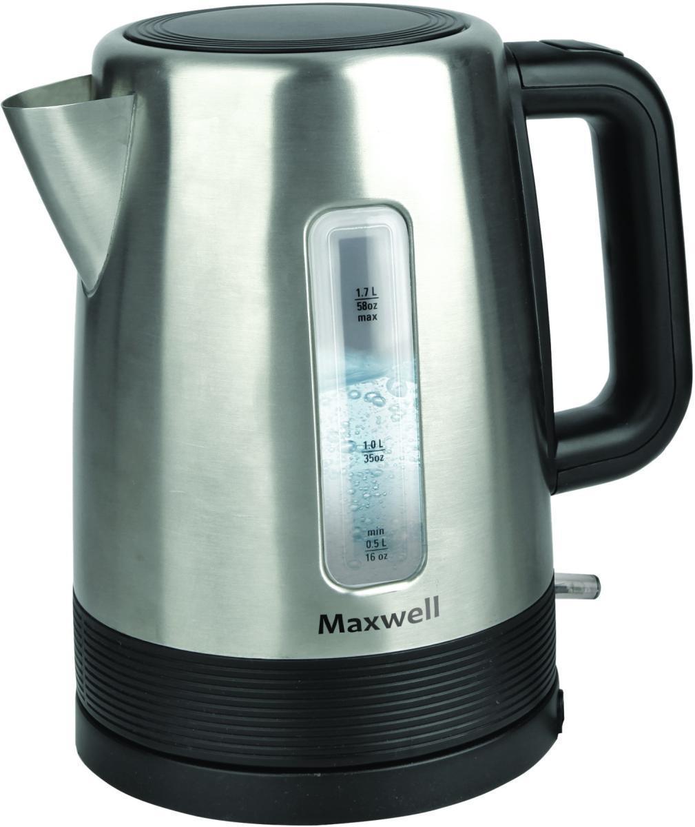 Maxwell MW-1061(ST) электрочайникMW-1061Электрический чайник Maxwell MW-1061 является прекрасным решением для тех, кто любит устраивать себе перерывы в работе на чашечку чая или кофе. Он прост в управлении и долговечен в использовании. Чайник автоматически выключается при закипании.