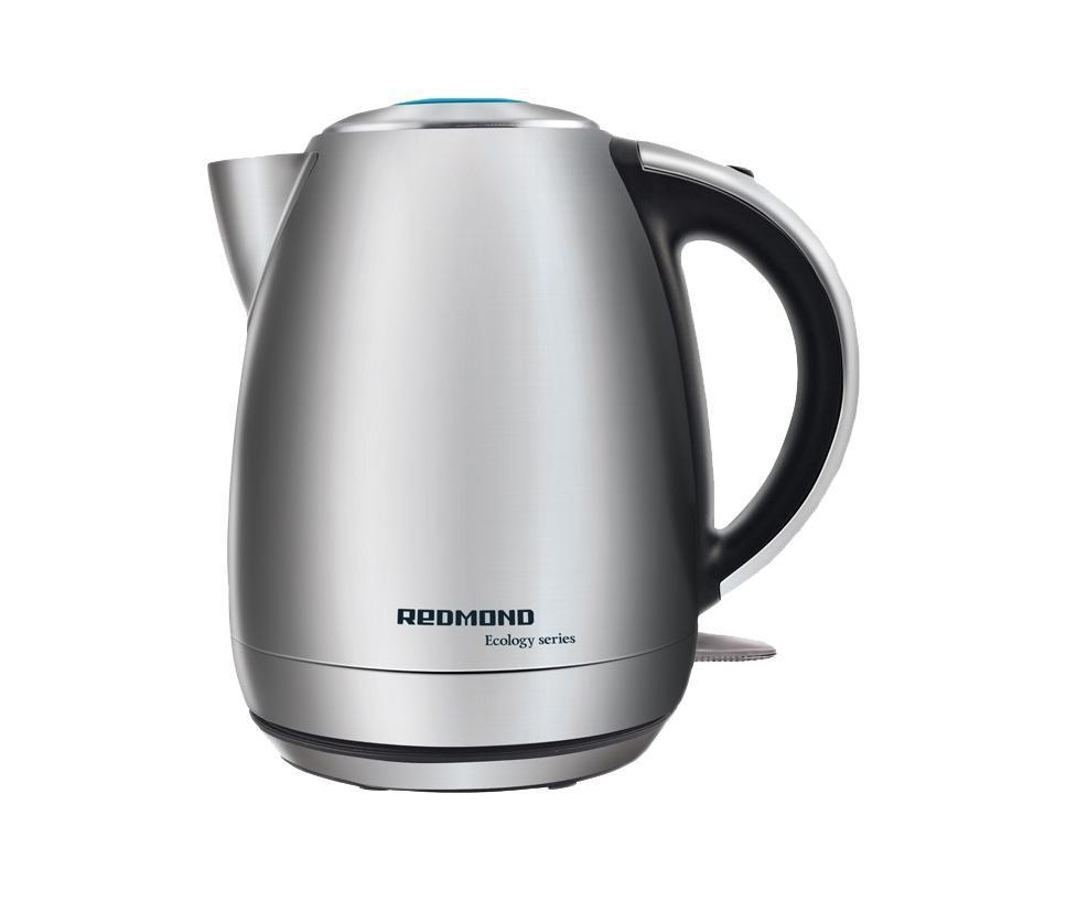 Redmond RK-M113RK-M 113Электрический чайник Redmond RK-M113 выполнен в матовом металлическом корпусе, на котором не остается следов от пальцев. Это экологически чистый материал, не выделяющий токсичных веществ в процессе кипячения. Нейлоновый фильтр удерживает образовавшуюся накипь внутри, так что ничто не испортит качество питьевой воды. Скрытый нагревательный элемент обеспечивает простоту чистки и увеличивает скорость нагрева жидкости. Пользоваться прибором абсолютно безопасно, ведь при закипании и при отсутствии воды он автоматически выключается...