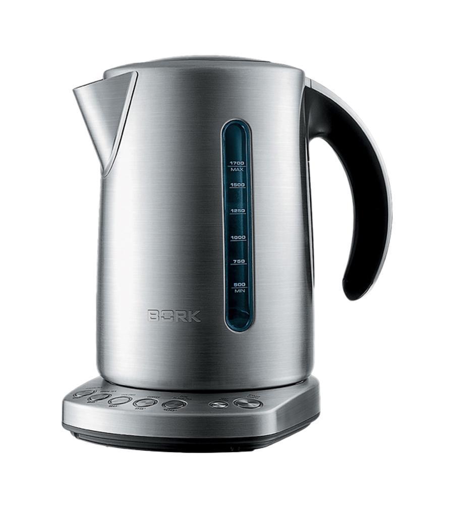 Bork K800 электрочайникK800Электрический чайник объемом 1,7 л с пятью температурными режимами для разных видов чая и технологией тихого кипячения Stealth. Позволяет регулировать температуру напитка и, благодаря функции Keep Warm, поддерживать ее в течение 20 минут. Технология плавного открывания крышки, звуковая индикация при отключении, подсветка уровня воды, съемный металлический фильтр, и система безопасности – чайник автоматически отключается при работе без воды. Сегодня Bork — один из самых ярких брендов российского рынка бытовой техники. Фирменным стилем бренда являются оригинальный дизайн и бескомпромиссное качество. Именно поэтому продукция Bork со своими чайниками стала неотъемлемым атрибутом успешной жизни для людей, ценящих совершенство, индивидуальность и комфорт.