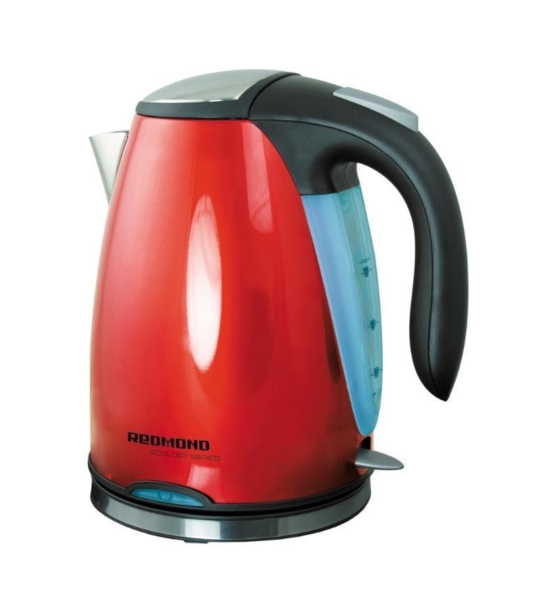 Redmond RK-М118RK-М118Яркий чайник Redmond RK-М118 в красном исполнении освежит любую кухню. Крупный синий светодиод включения и подсветка уровня воды в чайнике, удобный для наливания воды носик в металлическом окрасе и кнопка открывания крышки чайника, не могут не понравиться.
