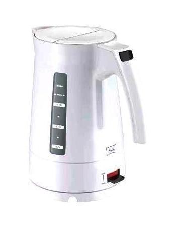 Melitta Enjoy Aqua 2011, White электрочайникEnjoy Aqua WhiteЭлектрический чайник Melitta Enjoy Aqua 2011 с функцией автоматического отключения при закипании воды имеет съемный моющийся фильтр от накипи и нескользящее основание с отсеком для хранения шнура, а благодаря стильному исполнению станет отличным дополнением на вашей кухне. Melitta — известная немецкая компания, производитель фильтров для кофе, аксессуаров для кофеварения, фильтр-пылесборников для пылесосов, всего, что связанно с кофе и чаем, а также большого ассортимента продуктов по уходу за домом. Электрочайники Melitta — это современный высококачественный дизайн и простота в обращении. Дисплей для определения уровня воды и возможность регулировать температуру выключения позволят приготовить именно такой чай, какой вы любите.