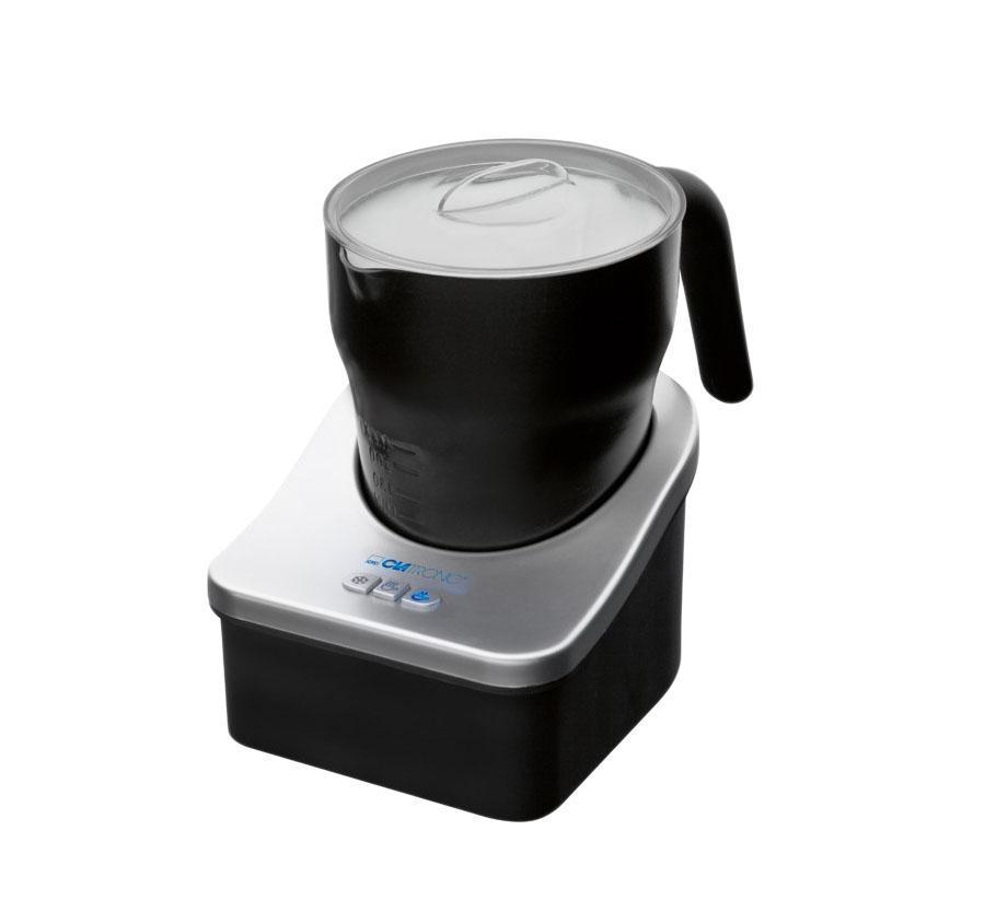 Clatronic MS 3326, Black пеновзбивательMS 3326, BlackПенообразователь Clatronic MS 3326 имеет встроенную функцию подогрева, бескабельный дизайн и возможность вращения на 360°. Вспенивает молоко за секунды. Подходит также для горячего и холодного шоколада Автоматическое отключение Миска и крышка - съёмные для облегчения чистки Антипригарное покрытие Три переключателя: теплое вспениваемое молоко, холодное вспениваемое молоко (идеально подходит для кофе со льдом), теплое молоко