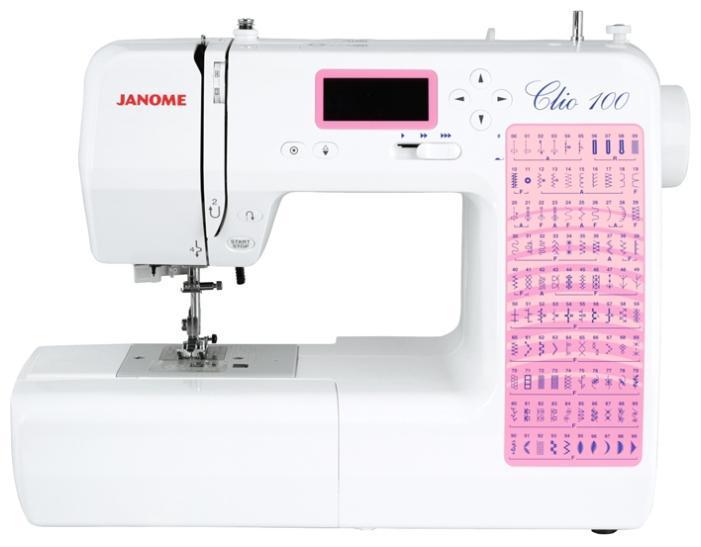 Janome Clio 100 швейная машина100Janome Clio 100 Компьютерная машина Janome Clio 100 имеет 100 швейных операций: рабочие строчки, трикотажные строчки, декоративные строчки, петля-автомат 3 вида. Работать на ней сможет даже новичок в швейном деле. Каждая деталь и функция машины облегчает и ускоряет процесс шитья: горизонтальный челнок, встроенный нитевдеватель, кнопка старт/стоп, регулятор скорости, автоматическая закрепка, кнопка позиционирования иглы. Особенности серии Janome Clio 1. Новая серия компьютерных швейных машин Janome Clio 50 и Janome Clio 100 имеют приятный дизайн, оптимальный набор функций и широкий выбор швейных операций по доступной цене. 2. Широкий выбор швейных операций (Clio 50 – 50 строчек, Clio 100 – 100 строчек) позволит Вам работать с различными типами тканей в различных техниках шитья. Машины Janome Clio имеют строчки для трикотажа, для такого популярного сейчас направления творчества, как квилтинг, а также оверлочные, потайные, декоративные строчки и 3 вида петель, выполняемых в...