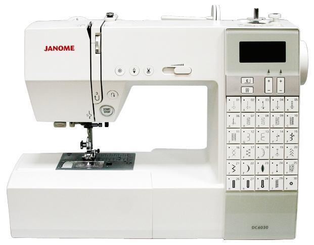 Janome DC 6030 швейная машинаDC 6030Компания Janome представляет новую компьютерную машину Janome DC 6030. Janome DC 6030 станет отличным помощником в осуществлении Ваших творческих идей. Стильный европейский дизайн, прямой выбор строчек, быстрая заправка шпульной нити, качество шитья и простота в обслуживании – главные достоинства этой модели! Стабилизационная пластина для петли и расширительный столик входят в стандартную комплектацию. Janome DC 6030 отмечена за лучший дизайн премией Good Design Award (GDA). Премия вручается Японским институтом развития дизайна (JDP). Модель Janome DC 6030 уникальна такими функциями: Возможность шитья двойной иглой. Вытягивание атласных стежков до 5 раз от их первоначального вида. На панели машины расположены кнопки автоматической обрезки нити. Точечная закрепка. Позиционирование иглы (вверх, вниз). Плавная регулировка скорости. Кнопка Старт\Стоп - возможность шитья без педали. В машине представлено 30 видов строчек, 3 автоматические петли. Встроенный обрезатель шпульной нити на...