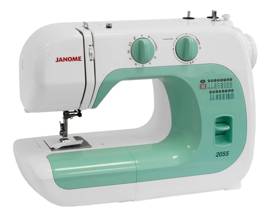 Janome 2055 швейная машина2055Легкая в использовании швейная машина, идеально подходит как для начинающих, так и для более опытных пользователей. Машина великолепно работает с разными видами тканей. Отличительные особенности: Электромеханическая швейная машина 15 швейных операций рабочие строчки потайные строчки оверлочные строчки трикотажные строчки декоративные строчки петля-полуавтомат Регулировка длины стежка от 0 до 4 мм Регулировка ширины зигзага до 5 мм Регулятор натяжения верхней нити Вертикальный челнок Рычаг обратного хода Легко пристегивающаяся лапка Дополнительный подъем лапки Встроенный нитеобрезатель Переключатель нижнего транспортера Два металлических вертикальных катушечных стержня Свободный рукав Отсек для хранения аксессуаров Гарантийный срок 2 года Производство Таиланд Набор аксессуаров: Универсальная лапка A Лапка для вшивания молнии односторонняя Лапка для потайной строчки Рамка для полуавтоматической петли Шпульки пластиковые 4шт. (3шт. и 1 в машине) Набор игл 3шт....