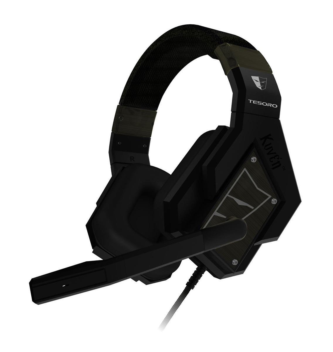 Tesoro Kuven 7.1 Devil TS-A1, Black проводная гарнитураKuven 7.1 Devil TS-A1 BlackПрофессиональная игровая гарнитура Tesoro Kuven 7.1 - это результат долгих исследований геймерских пристрастий и требований. Они совмещают в себе всё необходимое: виртуализированный звук 7.1, мощные 50-мм динамики, закрытые чашки со съёмными шумопоглощающими амбушюрами, контроллер звука, высококачественный микрофон и стильный внешний вид. Данная модель обладает чистейшим звучанием и обеспечивают превосходную слышимость во время игры. Благодаря продвинутой технологии виртуализации объёмного звука, вы сможете быть готовым к столкновению с самым осторожным противником, потому что будете слышать его задолго до того, как он сможет вас увидеть. Благодаря виртуализированному звуку 7.1 вы сможете точно определять местоположение ваших противников и составлять наиболее полную картину боя. 50-мм динамики обеспечивают мощное, чистое звучание, благодаря которому погружение в игру будет максимально глубоким. Закрытый тип наушников и плотные амбушюры позволят...