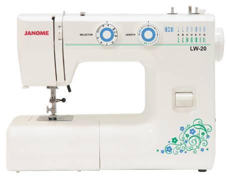 Janome LW-20, White швейная машина20