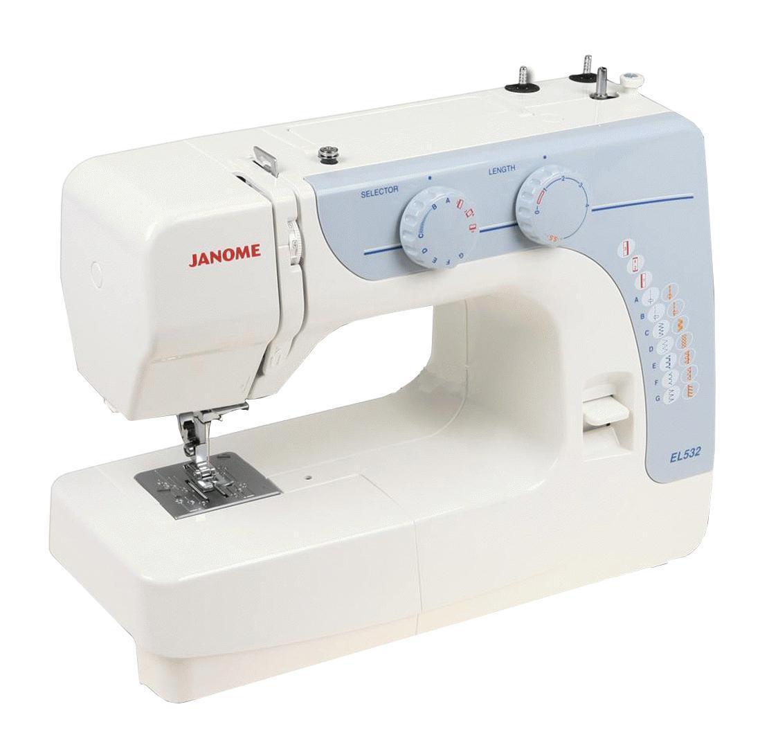 Janome EL532 швейная машина532Простая и легкая в работе механическая швейная машина Janome EL 532 работает с различными видами современных тканей. Идеально подходит для начинающих портних. Полный аналог модели Janome VS 52.