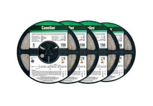 Camelion SL-5050-30-C99 светодиодная лента, 5 м, RGBSL-5050-30-C99Светодиодная лента - это линейка светодиодов, закрепленных на гибкой основе. Светодиодные ленты бывают разной абсолютной длины (1 м, 3м, 5м, 7м), отличаются количеством светодиодов на 1 погонный метр, цветностью светодиодов (одноцветные, многоцветные (RGB). Светодиодные ленты производятся разной степени защиты: для наружнего или внутреннего применения. Для питания светодиодных лент необходимы специальные блоки питания. Для управления цветом в RGB светодиодных лентах необходим также контроллер. Напряжение: 12 вольт