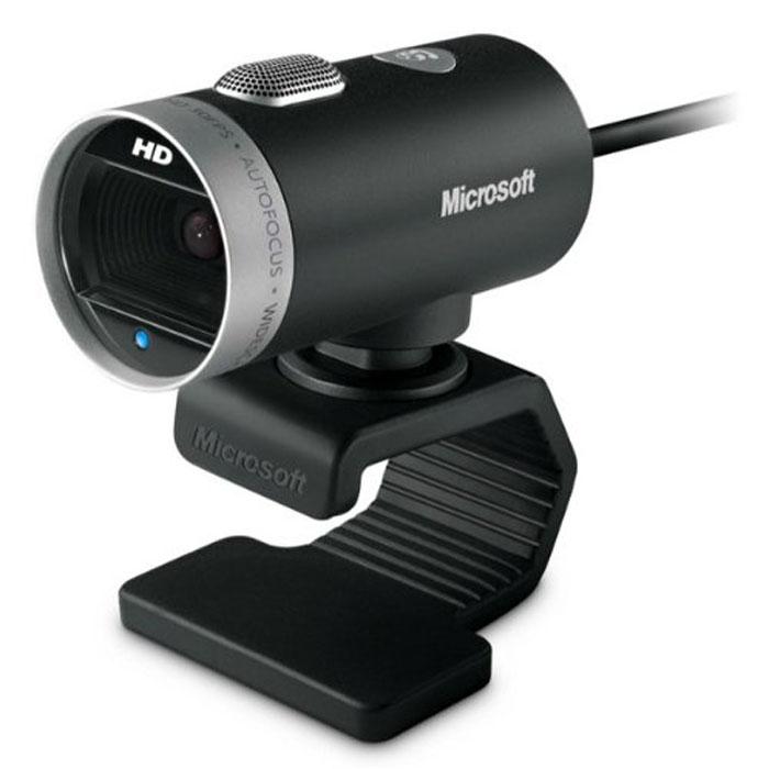 Microsoft LifeCam Cinema HD веб-камера (H5D-00015)H5D-00015Веб-камера Microsoft LifeCam Cinema HD представляет вашему вниманию широкоформатное HD-видео с разрешением 720p и кристально чистым звуком. Расслабьтесь, пока камера автоматически увеличивает резкость изображения, а функция TrueColor настраивает экспозицию для запечатления великолепных, ярких кадров. А чтобы видео было еще более четким, прецизионный стеклянный объектив и технология ClearFrame повышают качество изображения даже при недостаточной освещенности.