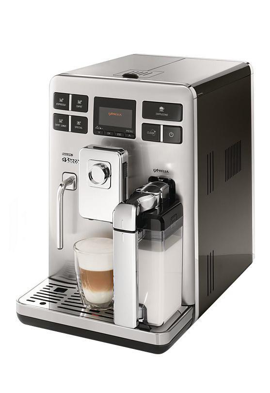 Philips Saeco Exprelia HD8854/09 кофемашинаHD8854/09Кофе-машина EXPRELIA CLASS BLACK,молочн.конт.с авт.сист.оч.,кофемолка с керам.жернов.