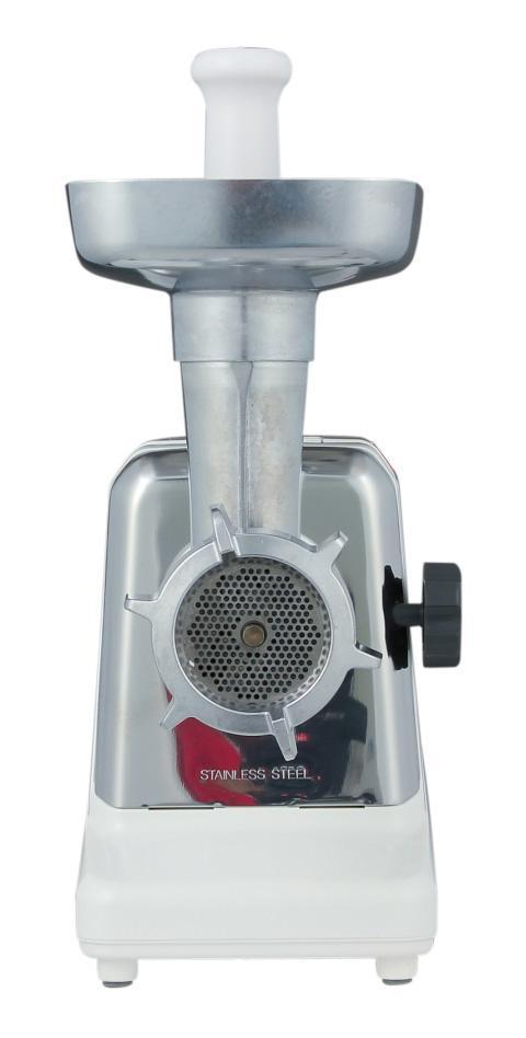 Panasonic MK-G1800PWTQ мясорубкаMK-G1800PПрактичная и очень удобная в использовании электрическая мясорубка от компании Panasonic с прочной металлической конструкцией и функцией реверса. Переработка - до 1,6 кг/мин 3 решетки с различным диаметром отверстий Максимальная мощность мотора при заклинивании - 1800 Вт Потребляемая мощность при обычном использовании - 330 Вт Самозатачивающиеся кованые ножи из нержавеющей стали Функция автореверса Алюминиевый лоток для загрузки Металлические механизмы внутри Прерыватель цепи для защиты мотора от перегрева Отделение для хранения насадок Отделение для хранения шнура