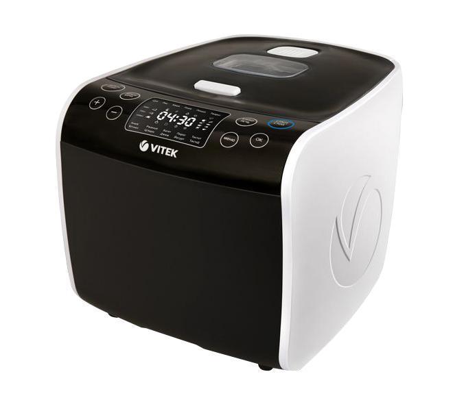 Vitek VT-4209(BW) мультиваркаBlack and White VT-4209 5GVITEK представляет многофункциональное устройство нового поколения для приготовления пищи – мультиварку/хлебопечь VT-4209 5G из коллекции Black&White. Модель VT-4209 5G – пять приборов в одном: мультиварка, хлебопечь, фритюрница, йогуртница и творожница. В наш век скоростей все больше людей придерживаются правильного и здорового питания, при этом, из-за нехватки времени предпочитают приборы нового поколения, которые позволяют не тратить много сил и времени на приготовление разнообразных любимых блюд. Модель VT-4209 5G – это настоящая находка для современных занятых людей, приверженцев здорового питания и новаторов, которые пользуются самыми прогрессивными новинками бытовой техники. Инновационная модель VT- 4209 5G из коллекции Black&White, прежде всего, обращает на себя внимание технологичностью — 68 программ для мультиварки и 15 программ для хлебопечи — и эксклюзивным дизайном, разработанным известным французским агентством (Millot design) специально для VITEK. ...