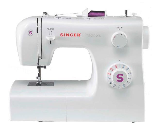 Singer 2263 швейная машинаTradition 2263Классическая швейная машина Singer Tradition 2263 имеет богатый набор строчек, умеет делать все основные швейные операции и отлично подойдет для обучения шитью, шитья и ремонта одежды, шитья предметов домашнего обихода и для других подобных работ.