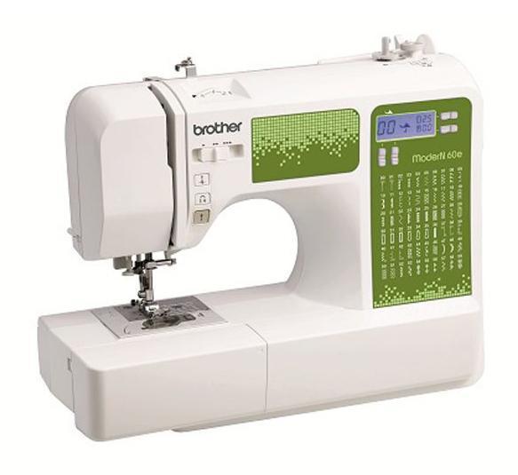 Brother ModerN 60EModerN 60EКомпьютеризованные швейные машины серии ModerN позволяют работать с тканями различной толщины и фактуры (от тончайшего шелка до джинсовой ткани). Широкий выбор строчек, несколько видов петель и автоматическая заправка нити помогут превратить работу в удовольствие, а на ЖК-дисплее всегда можно увидеть длину стежка, ширину строчки и тип прижимной лапки.