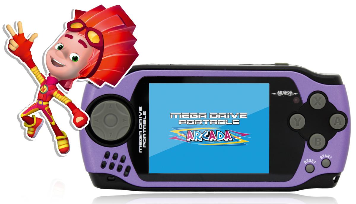 """Игровая ФикСиПриставка Arcada 3"""" (105 игр), Purple ( VG-1629 FX )"""