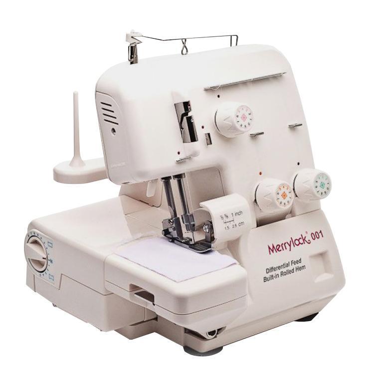 Merrylock 001 оверлок 3-х-ниточныйMerrylock 001 оверлок 3-х-ниточныйОт производителя Оверлок Merrylock 001 рекомендуется тем, кто много шьет. Трехниточный оверлочный шов используется в 80% швах готовых изделий. Остальные швы могут быть выполнены на швейной машине с помощью прямой строчки. Оверлок Merrylock 001 имеет длины и ширины стежка, что даст Вам возможность создать свой собственный и уникальный стиль. Также модель оснащена встроенным освещением рабочей области, которое снижает напряжение на органы зрения.
