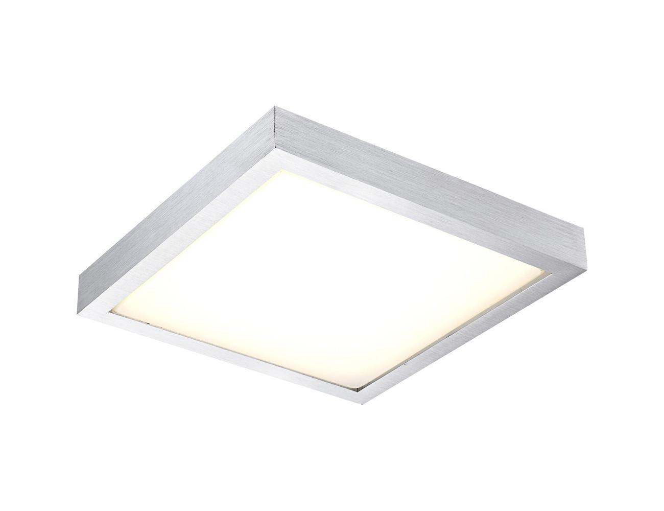 41661 Потолочный светильник TAMINA41661Настенно-потолочный светильник Globo 41661 Tamina идеально подойдет для интерьеров в стиле модерн. Настенно-потолочный Globo-Lighting RUS квадратной формы белого цвета с металлической рамкой цвета алюминий и 1ой лампой цоколя LED макс. 12Ватт (36V) Подойдет для освещения гостинной, спальни, кухни