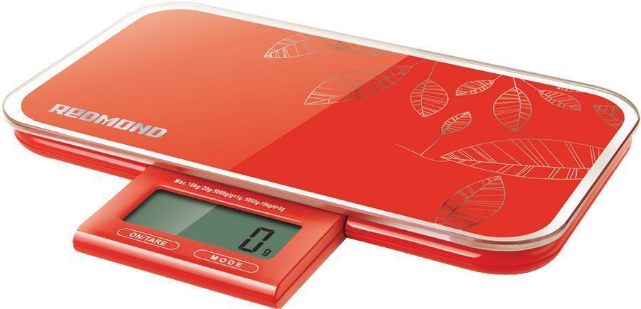 Redmond RS-721, Red весы кухонные