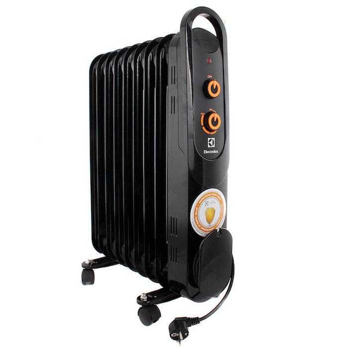 Electrolux 4209M/EOH масляный обогревательEOH/M-4209Electrolux EOH/M-4209 - современная модель масляного радиатора, отличающаяся максимальной безопасностью, высокой надежностью и экологичностью, а также компактными размерами. В качестве наполнителя радиатор использует экологичное масло HD-300, проходящее многоступенчатую систему очистки. Electrolux EOH/M-4209 защита от опрокидывания. Масляный радиатор Electrolux EOH/M-4209 может работать в трёх режимах обогрева на выбор: мощность обогрева 800 Вт, мощность обогрева 1200 Вт, мощность обогрева 2000 Вт. Радиатор имеет простое эргономичное управление, место для хранения шнура питания, а также ручку для удобства передвижения.