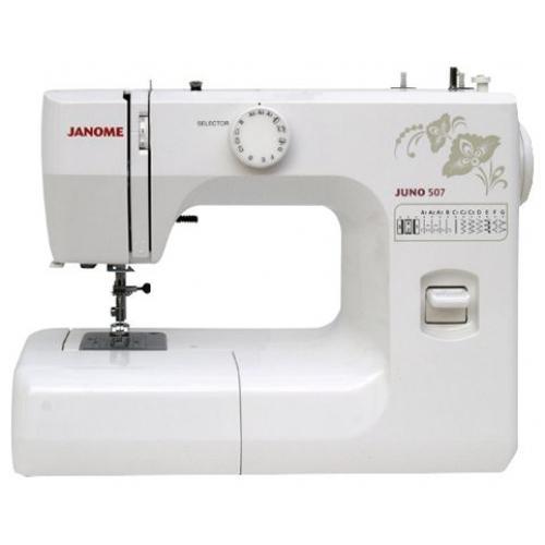 Janome Juno 507 швейная машина5077 операций, петля-полуавтомат, вертикальный челнок