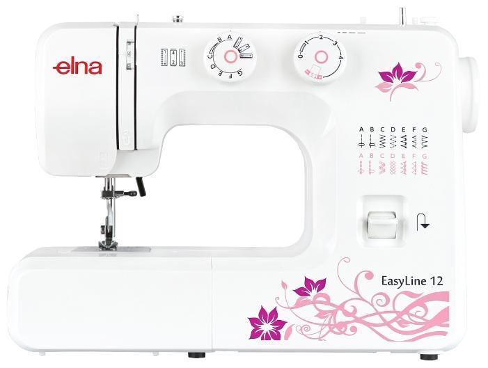 Elna EasyLine 12 швейная машинаEasyLine 1212 операций, петля п/а, нитевдеватель, мягкий чехол