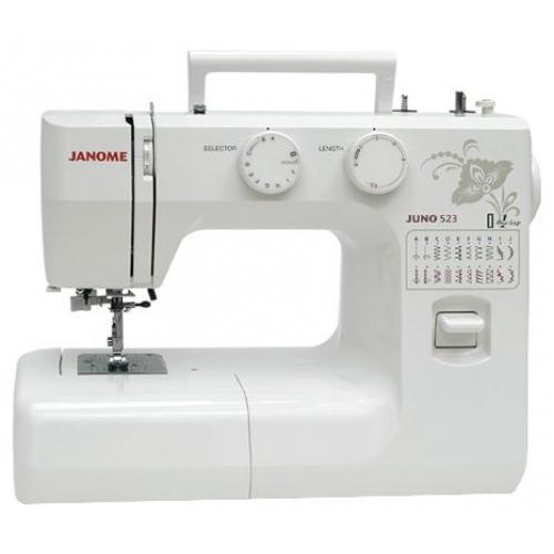Janome Juno 523 швейная машина52323 операций, петля-автомат, вертикальный челнок