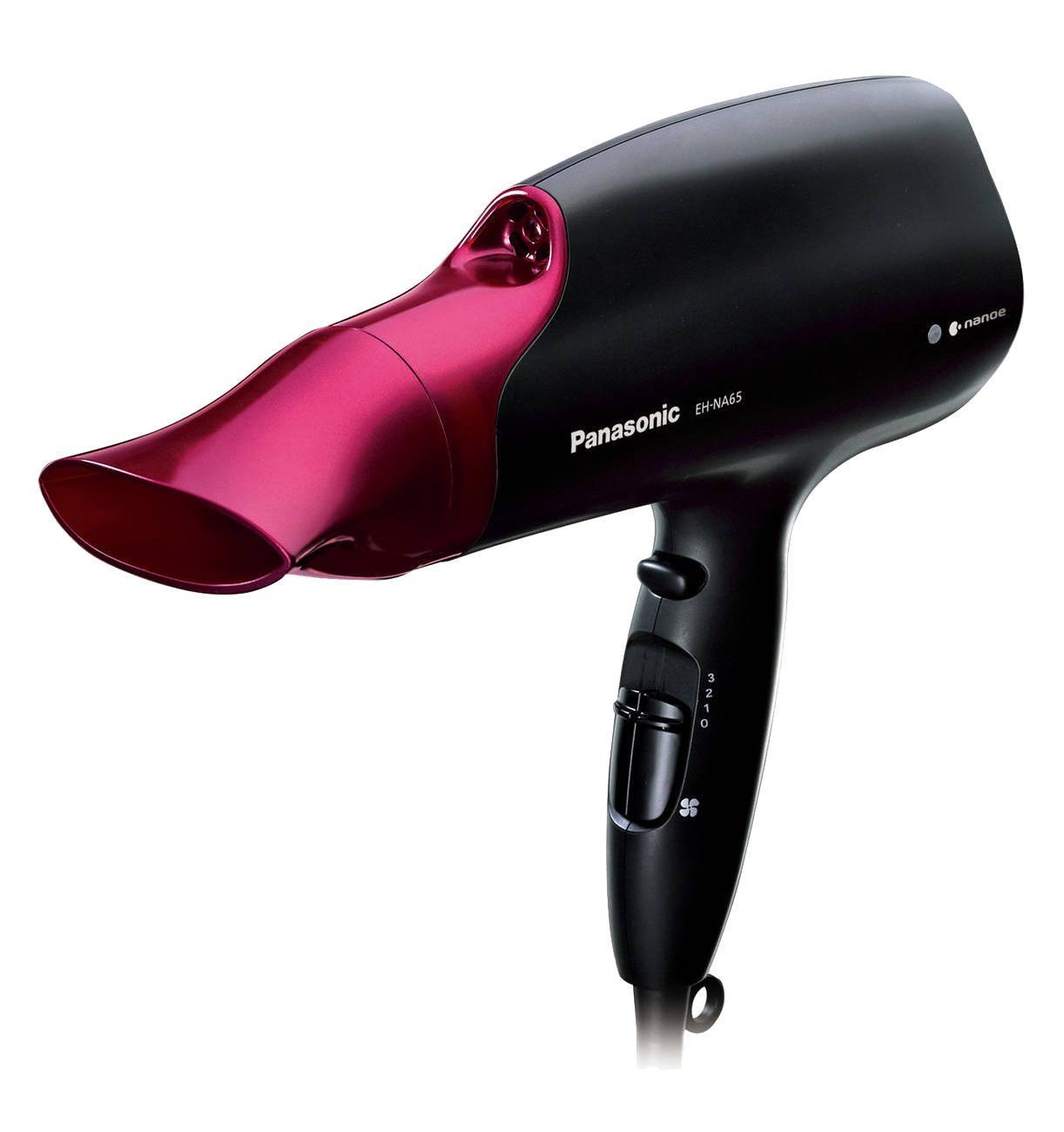 Фен Panasonic EH-NA65-K865EH-NA65-K865Технология nanoe увлажняет поврежденные волосы, способствуя их постепенному восстановлению, увлажняет кожу головы. nanoe сокращает повреждение волос при расчесывании Мошный воздушный поток Сушите волосы быстро и легко в домашних условиях благодаря профессиональной мощности воздушного потока. Насадка-концентрат для Quick Dry Высокое/Низкое регулируемое давление воздуха расправляет волосы, ускоряя их сушку.