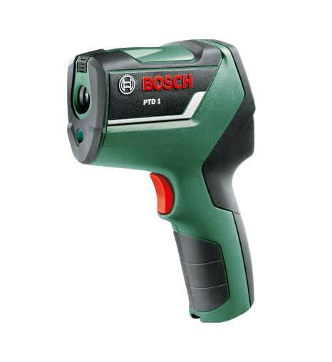 Детектор Bosch PTD1 (0603683020)PTD1 термодетекторТермодетектор PTD 1 от Bosch одним нажатием кнопки быстро и легко укажет «мостики холода» и места возможного образования плесени. Благодаря этому можно без труда определить плохую изоляцию окон или неутепленные участки в наружных стенах. В соответствии с выбранным режимом инструмент измеряет температуру в помещении, температуру поверхности стен и объектов, а также влажность воздуха, сопоставляет и интерпретирует полученные данные. Это стало возможным благодаря трем датчикам и фирменного программного обеспечения Bosch. Результат отображается с помощью трех цветных светодиодов, работающих по принципу «светофора». Красный, желтый или зеленый свет позволяет однозначно определить, требуется ли Ваше вмешательство. Термодетектор PTD 1 от Bosch управляется с помощью всего нескольких кнопок. Он работает в трех режимах: в первом режиме инструмент измеряет температуру поверхности стен и объектов, например, батарей центрального отопления, с точностью измерения ± 1° C. Благодаря этому можно,...