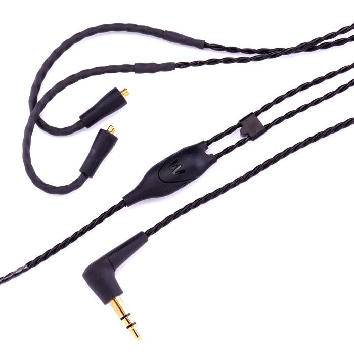Westone ES/UM Pro Cable (78564), Black сменный кабель для наушников15116963Сменный витой кабель с арамидными волокнами для наушников Westone серий UM Pro / ES / AC / W.