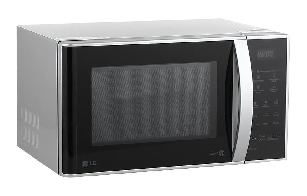 LG MS-2342BS СВЧ-печьMS-2342 BSНовая микроволновая печь с простым электронным управлением значительно облегчит ваши домашние хлопоты. Теперь сможете быстро и вкусно приготовить любое блюдо!СВЧ печь оснащена пятью уровнями мощности излучения, что позволит быстро воплотить в жизни любые кулинарные фантазии. Так же СВЧ печь оснащена таймером на 30 минут для удобного управления. Функция «быстрой разморозки» продуктов значительно экономит ваше время, благодаря чему вы сможете уделить больше времени вашим близким.Стильный лаконичный дизайн СВЧ печки станет прекрасным дополнением вашего кухонного интерьера.